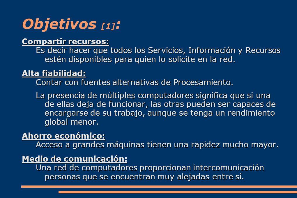 Objetivos [1]: Compartir recursos: